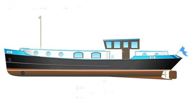 Katherine Class Dutch Barges | Branson Boat Design Dutch Barges