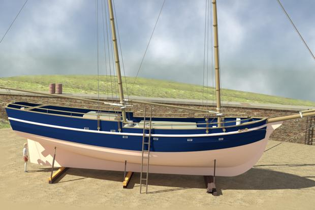Pirate Schooner | Branson Boat Design Dutch Barges