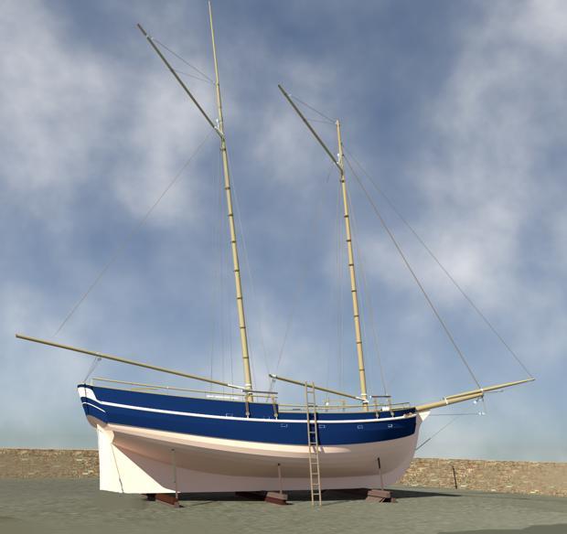 Pirate Schooner   Branson Boat Design Dutch Barges
