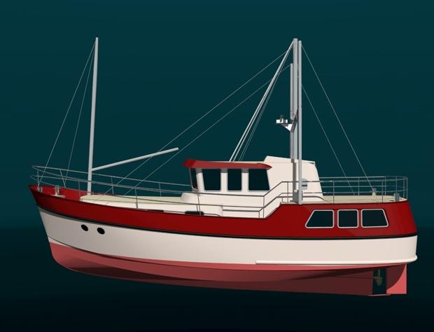 Passagemaker 40/44 Trawler yacht | Branson Boat Design Dutch Barges